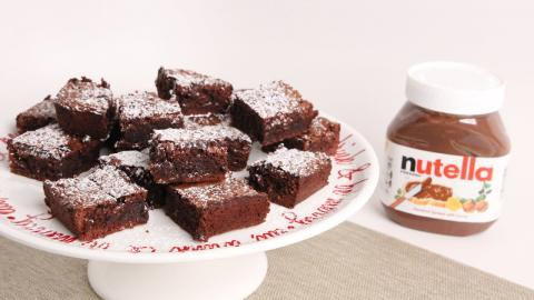 Nutella Brownies Recipe - Laura Vitale - Laura in the Kitchen Episode 1000