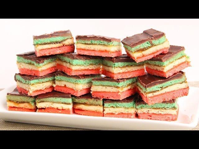 Italian Rainbow Cookies Recipe - Laura Vitale - Laura in the Kitchen Episode 882