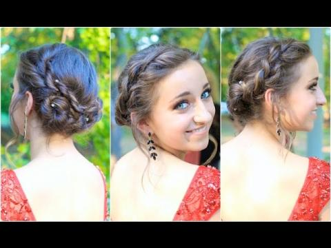 Rope Twisted Updo   Homecoming Hairstyles