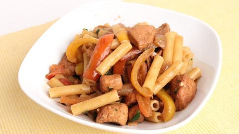 Chicken Fajita Pasta Recipe - Laura Vitale - Laura in the Kitchen Episode
