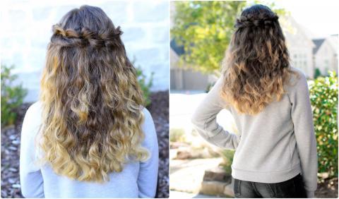 Puffed Loop Braid   Cute Girls Hairstyles