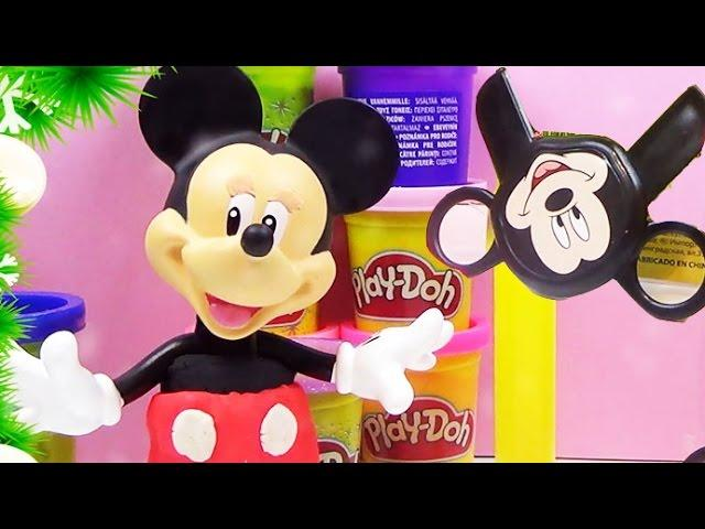 PLAY DOH Mickey Mouse Stamp and Cut Mickey Mouse Clubhouse Disney creative Toys Playdough Creations