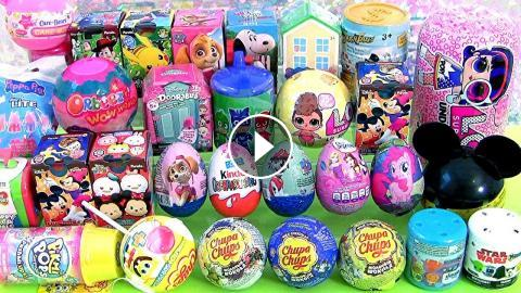 31 Surprise Toys Eggs Peppa Pig S House Mickey Lol Jelly