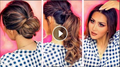 2 Min Everyday Hairstyles For Work With Puff Hair