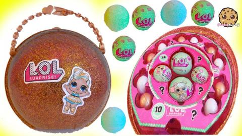LOL Surprise Giant Ball - Big & Lil Sisters Baby Dolls Surprise Blind Bags + Bath Fizz Charms Toys