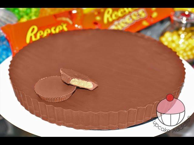 GIANT Peanut Butter Cup! DIY Reeses PB Cups Recipe by Cupcake Addiction