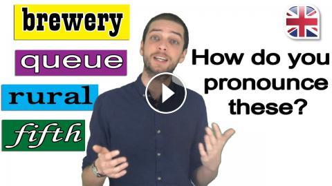 Pronouncing Difficult Words - English Pronunciation Video