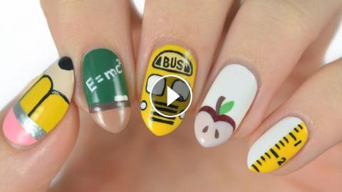 5 Back To School Nail Art Designs!
