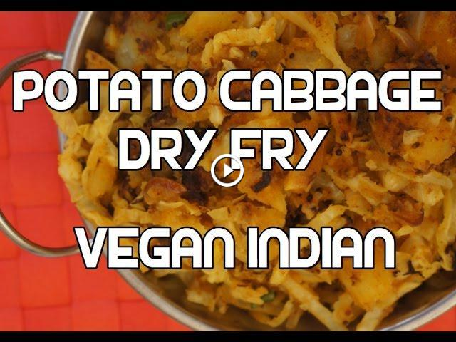 Cabbage potato dry fry recipe indian aloo video vegan forumfinder Choice Image