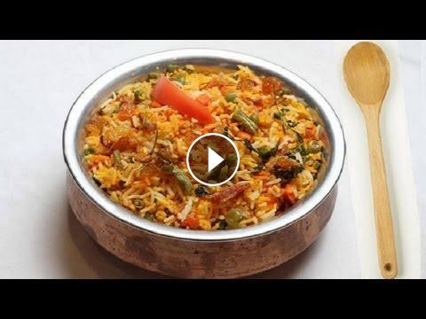 Vegetable biryani recipe video indian vegetarian recipes by bhavna forumfinder Image collections