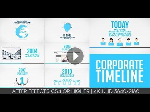 Corporate Timeline | After Efects Project Files - Videohive Template