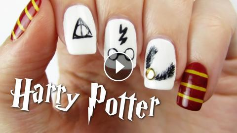 Harry potter nail art design prinsesfo Image collections