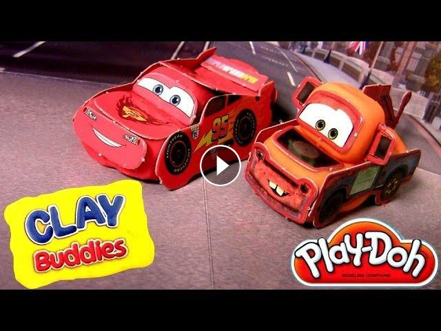 & CARS Play-Doh Clay Buddies Disney Pixar Mater u0026 Lightning McQueen