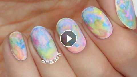 Easiest Watercolor Nail Art Great For Beginners