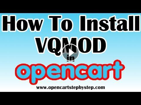 How To Install VQMod On Opencart 1 5 6 4