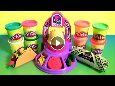 Play doh taco bell playset toy food maker diy waffle tacos for Play doh cuisine