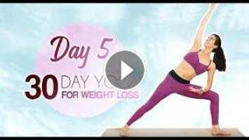 yoga for weight loss day 5 ♥ kick up energy  fatburning