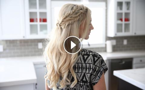Half up side braid diy cute girls hairstyles solutioingenieria Gallery