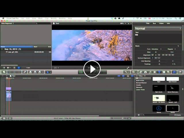 Adding Text to Canvas in Final Cut Pro X : Tech Tips & Tricks
