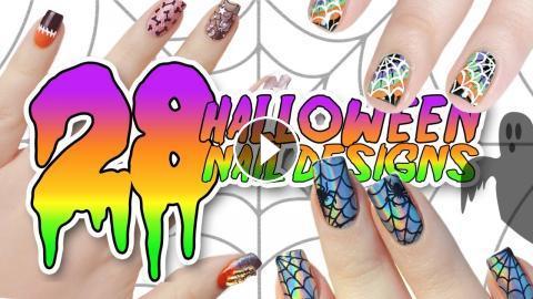 28 Diy Easy Halloween Nail Art Designs Ultimate Halloween Nail Art