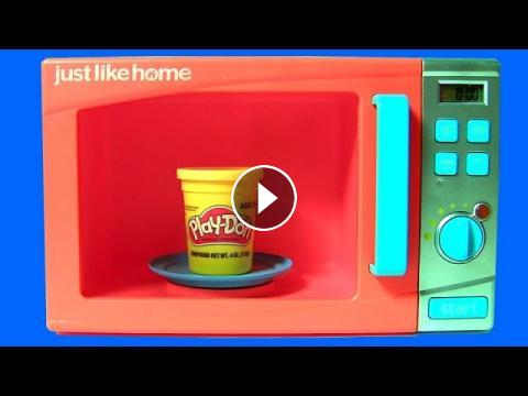 microwave oven kitchen toy play doh surprises just like home. Black Bedroom Furniture Sets. Home Design Ideas