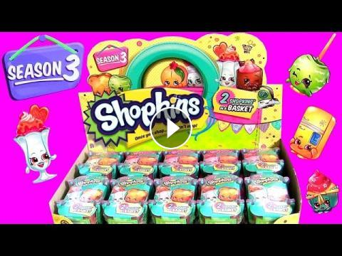 60 Shopkins Season 3 Toys Surprise Full Case Of 30 Baskets Learn