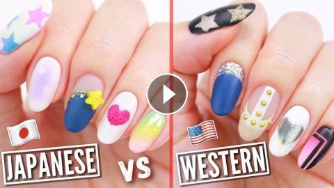 - JAPANESE VS WESTERN NAIL ART!