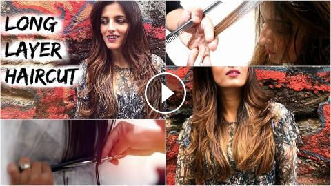 Long Layered Haircut Tutorial For Medium Hair How To Cut Layers In