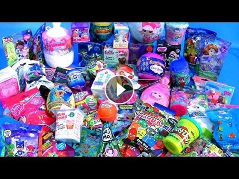 60 Surprise Eggs Huge Toys Collection With Mashems Fashems Lol Dolls