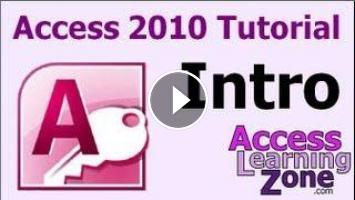 Microsoft Access 2010 Tutorial Part 00 of 12 - Introduction