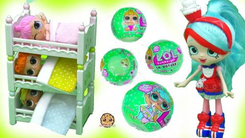 Bunk Bed Babies - LOL Surprise Baby Lil Sisters Color Change + Pee with Shopkins Shoppies