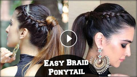 Easy Effortless Braided Ponytail Hairstyle For Medium Hair ...