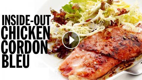 Inside Out Chicken Cordon Bleu Food Network