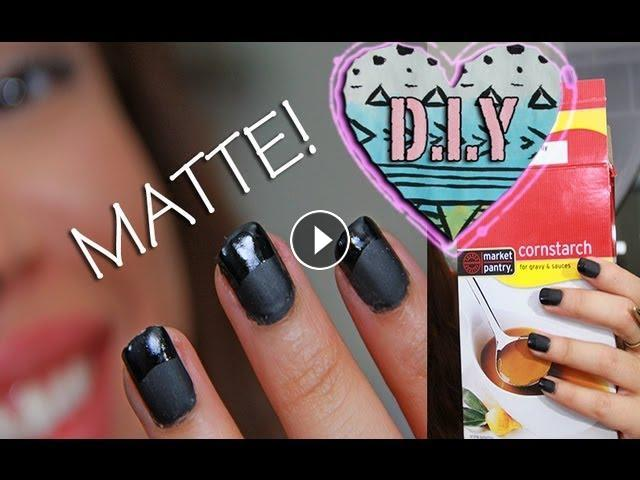 D.I.Y homemade MATTE NAIL Polish!!!   AndreasChoice