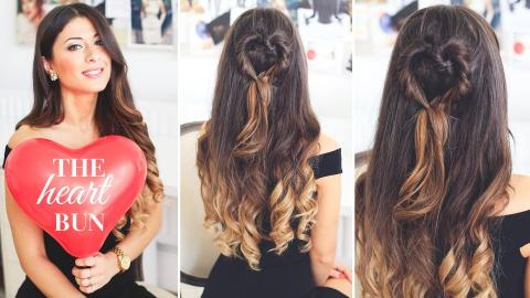The Heart Bun Valentine's Day Hairstyle