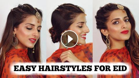 2 Min Easy Eid Hairstyles For Girls 2018 Eid Special Hairstyle For