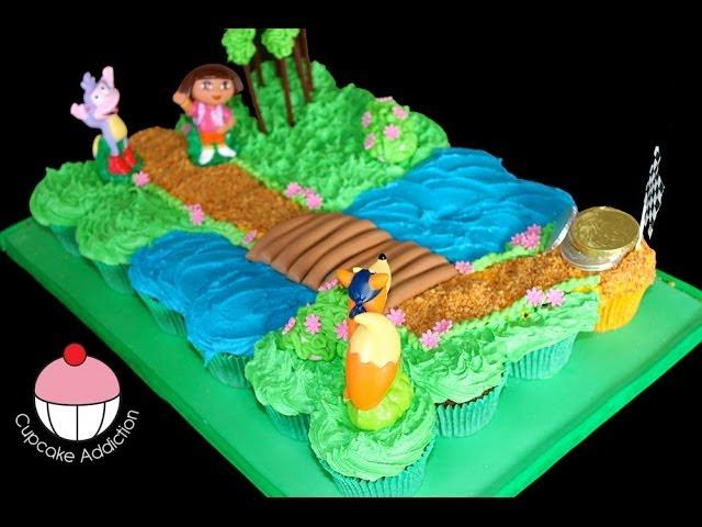 Dora Cupcake Cake! Make a Dora the Explorer Pullapart C ...