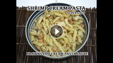 Garlic shrimp cream pasta prawn creamy sauce penne recipe shrimp cream pasta prawn creamy penne recipeas part of the how to cook great network also take a look at our channel for other great cooking genre forumfinder Images
