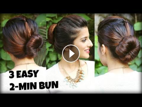 3 EASY Bun Hairstyles for THIN/LONG Hair Using a Bun Maker For ...