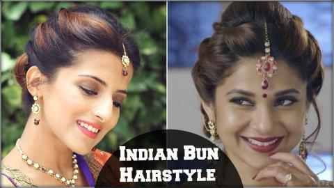 Beyhadh Jennifer Wingets Easy Bun Hairstyle For Indian Wedding Occasion Party Medium Hair
