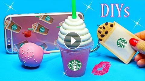 5 Diy Starbucks Projects Easy Miniature Notebook Pen Phone Case Fun Crafts To Do When Your Bored