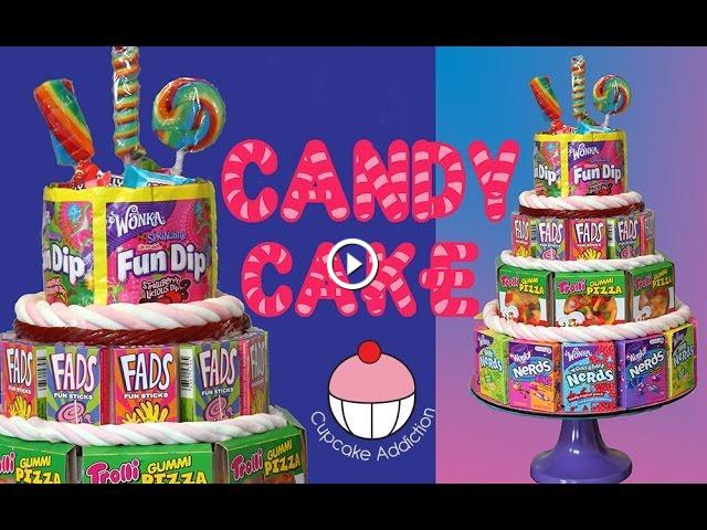 No Bake Candy Cake The Easiest 4 Tier Birthday Cake You