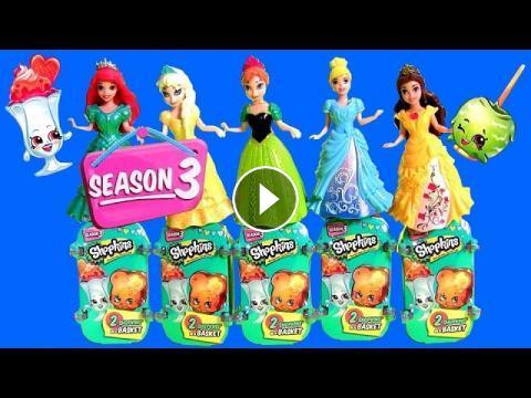 Learn Shopkins Season 3 Characters Names With Disney Princesses Anna Elsa Ariel Cinderella MagiClip