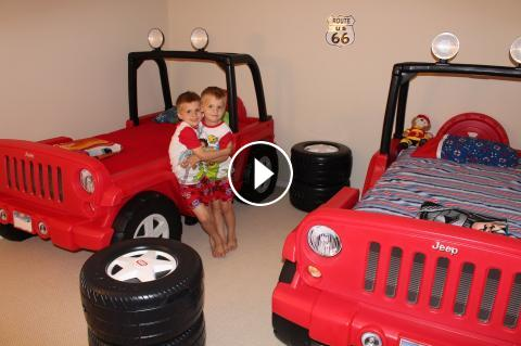 Twins New Little TIkes Jeep Beds
