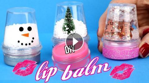 Diy Lip Balm How To Make Miniature Snow Globe Lip Gloss