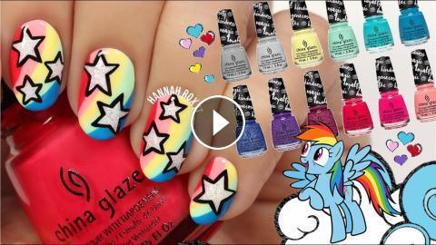 Rainbow star nails my little pony x china glaze swatches rainbow star nails my little pony nail art china glaze swatchesa big thanks to china glaze for sponsoring this video prinsesfo Gallery