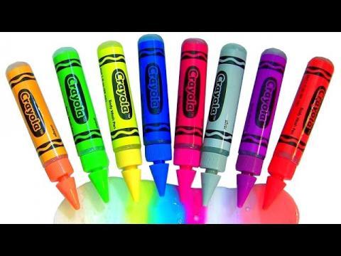 learn colors with crayola bathtub crayons bath paint gel pens peppa pig bathtime fun in bathtub - Crayola Bathroom Crayons