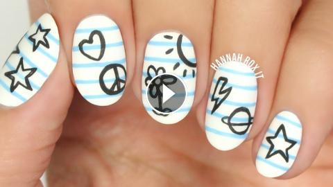 Back to school notebook doodle nails back to school nails notebook doodle nail art cute nail designs please leave a like if you enjoyed this video xox prinsesfo Gallery