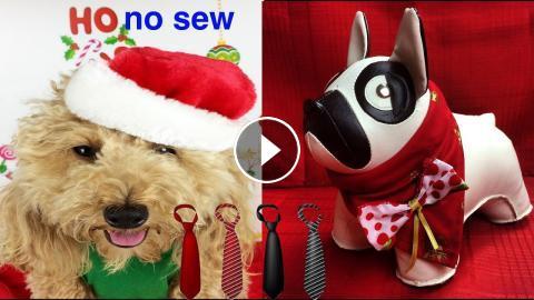 Xmas Scarf Tie Christmas Bandana No Sew Craft Series Remix Diy Dog