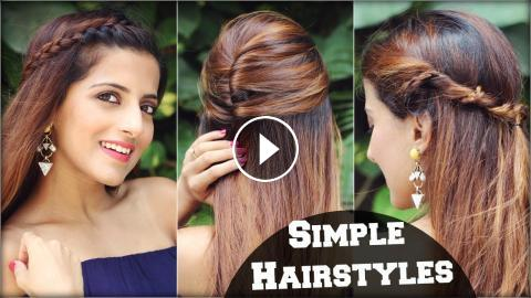 1 Min Cute EVERYDAY Effortless Hairstyles For School ...
